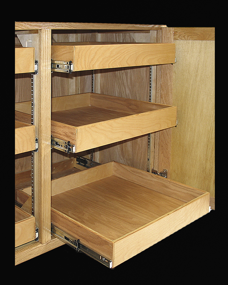 Shelves For Kitchen Cabinets: Cabinet Pull Outs Organize