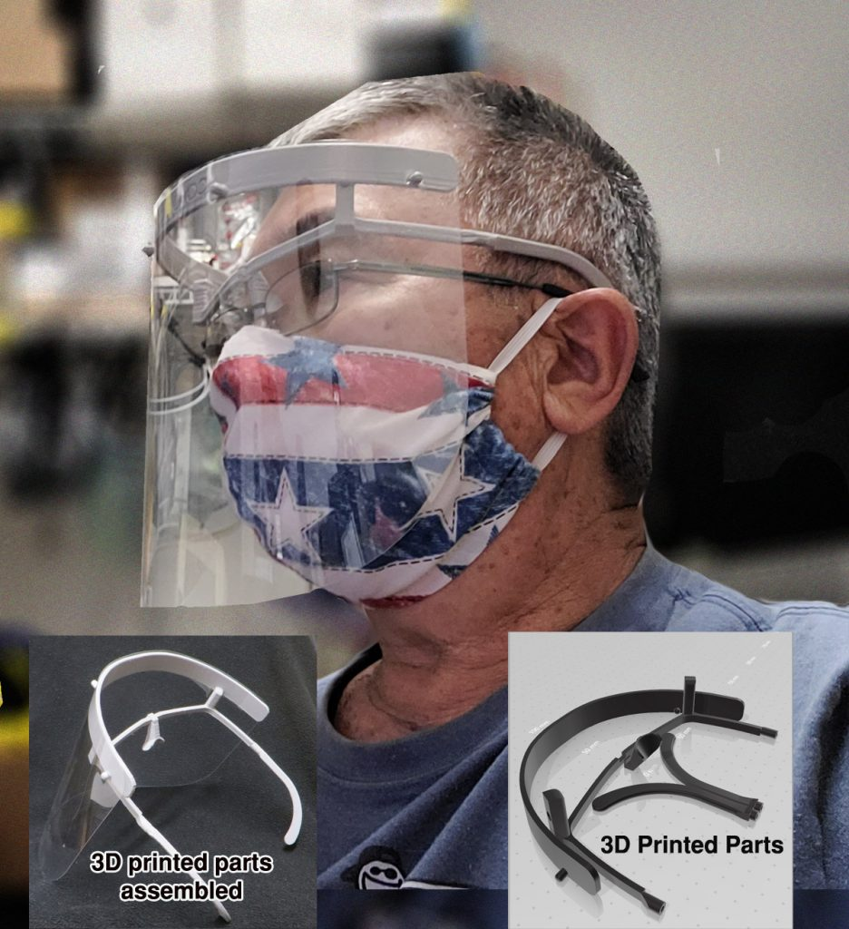 """Eye Glass"" version Face shield"